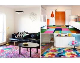 Яркие напольные ковры.